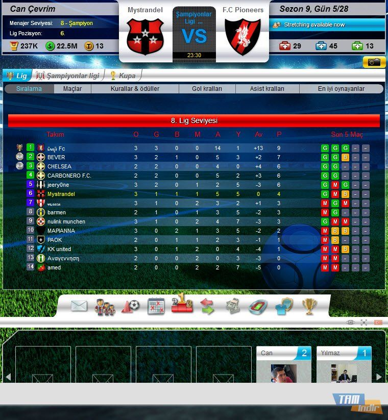 Top Eleven Oyna Football Oyun Android