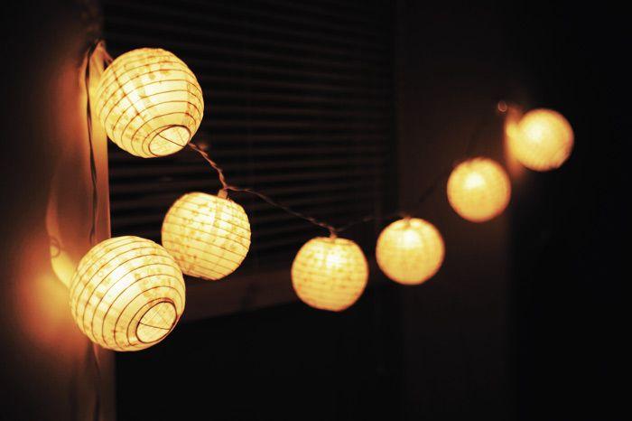 String Lights On Pinterest : paper lantern fairy lights Roselawnlutheran