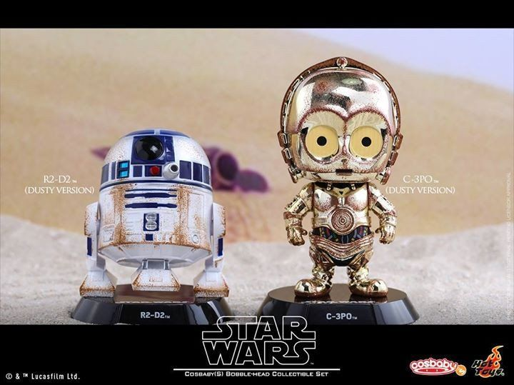 Hot Toys - COSB300 – Star Wars: The Force Awakens – C-3PO & R2-D2 (Dusty Version) Cosbaby Bobble-Head Collectible Set