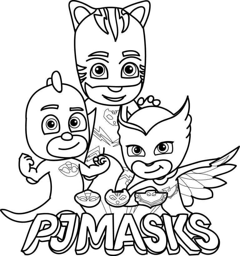 Pj Masks Herois De Pijama Desenhos Para Colorir Imprimir