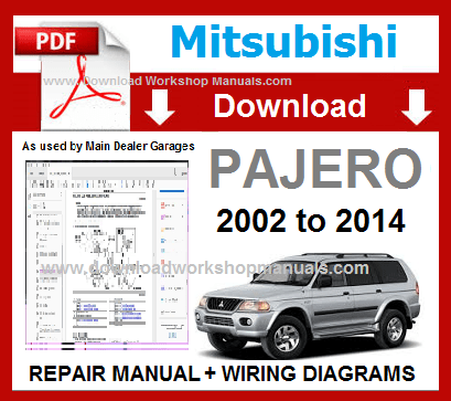 Mitsubishi Pajero Workshop Manual & Wiring Diagrams | Mitsubishi, Mitsubishi  pajero, Repair manualsPinterest