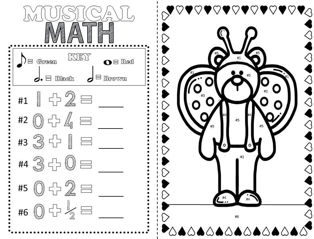 Music Coloring Pages Valentines Day
