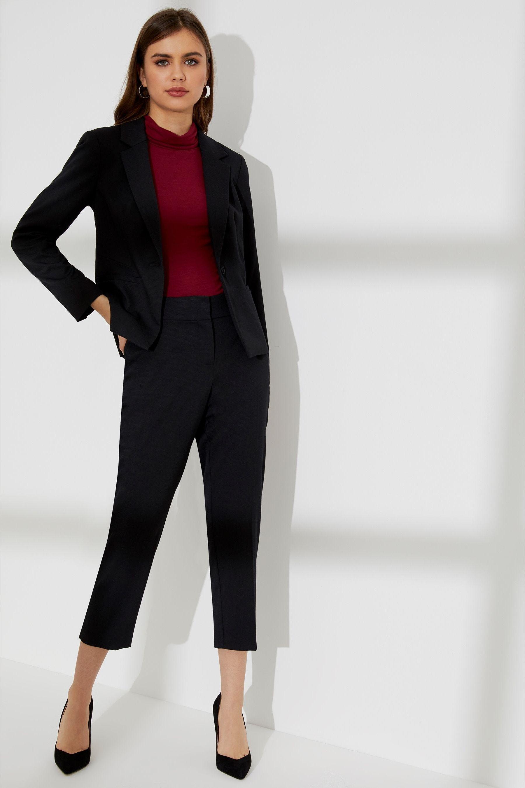 Womens Dorothy Perkins Petite Suit Trouser Black | Petite