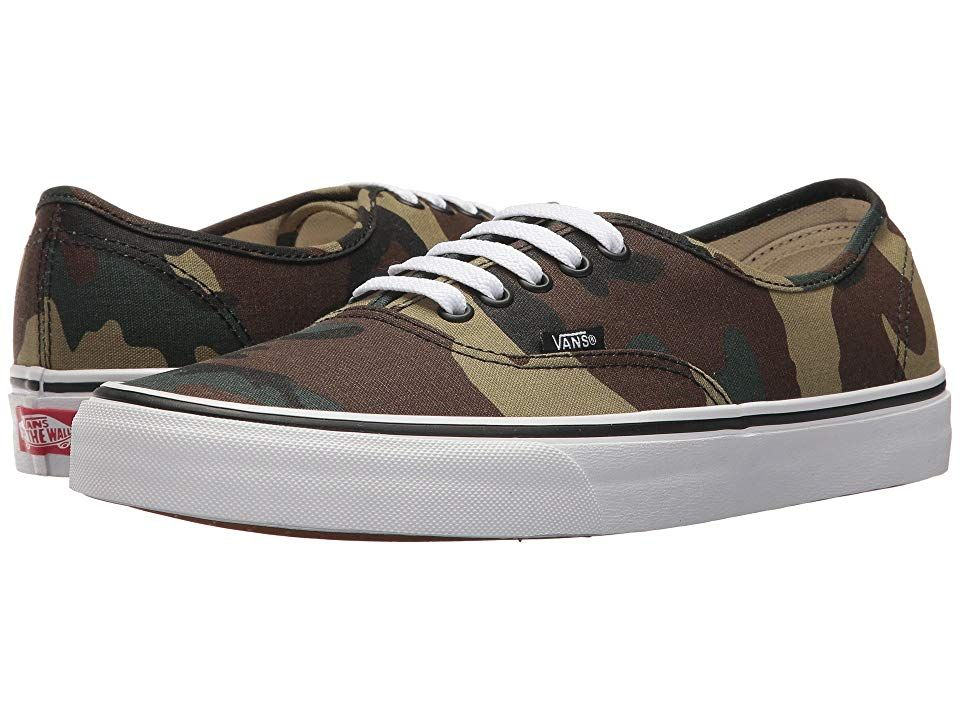 Vans Authentictm Woodland Camo BlackWoodland Skate Shoes With roots firmly entrenched in SoCal surf and skate style but embraced around the world stay true with the clean...
