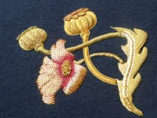 Level 2 Goldwork Sample from the Hand & Lock School for Embroidery