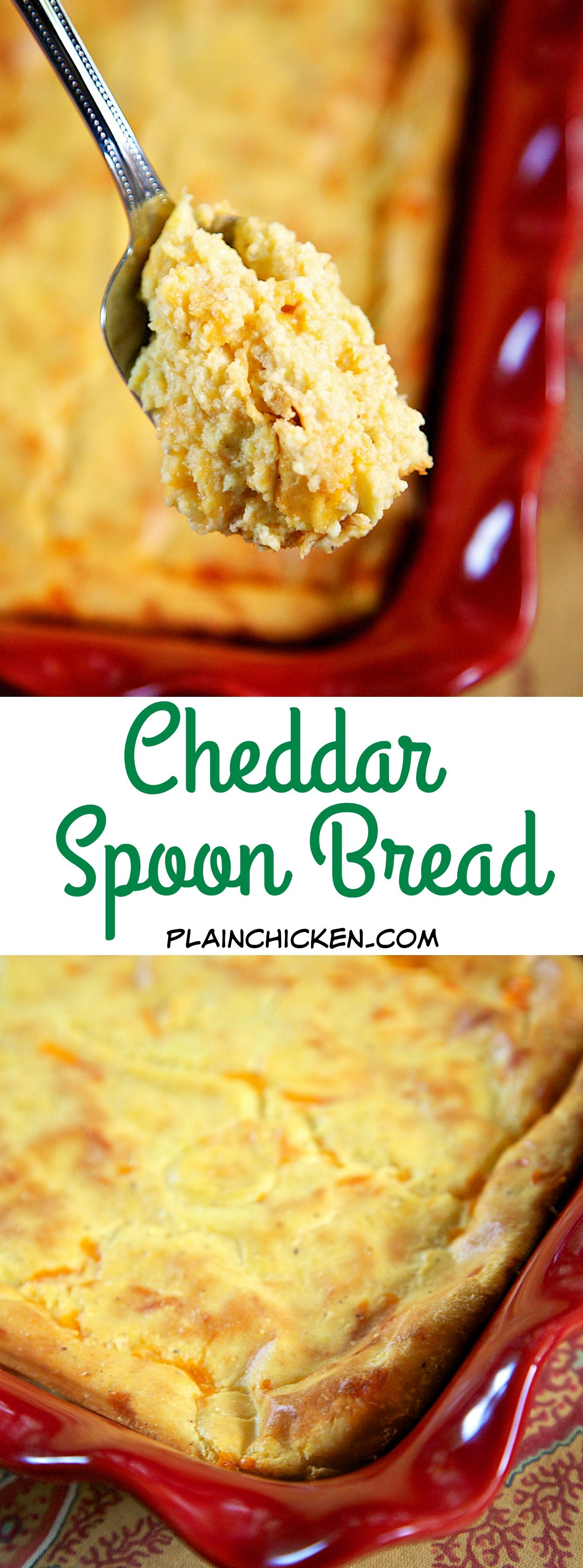 Photo of Cheddar Spoon Bread – Plain Chicken