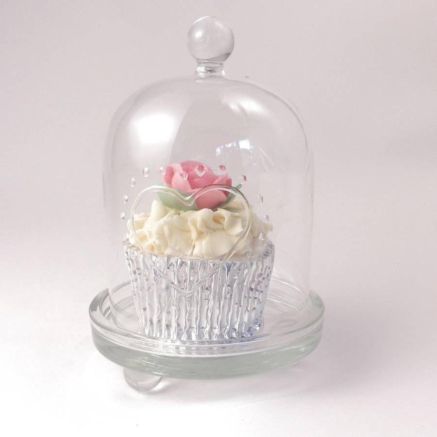Glass dome cupcake stand