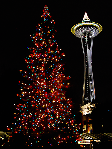 Merry Christmas from Seattle with a fascinating view of ...