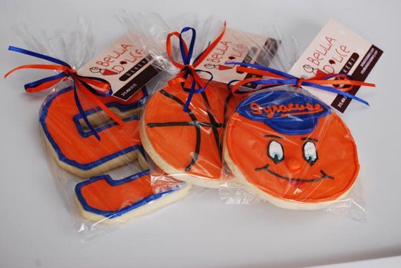Syracuse University Basketball Cookies available now from Bella Dolce Bakery on Etsy!    http://www.etsy.com/listing/90697233/syracuse-orange-basketball-sugar-cookies