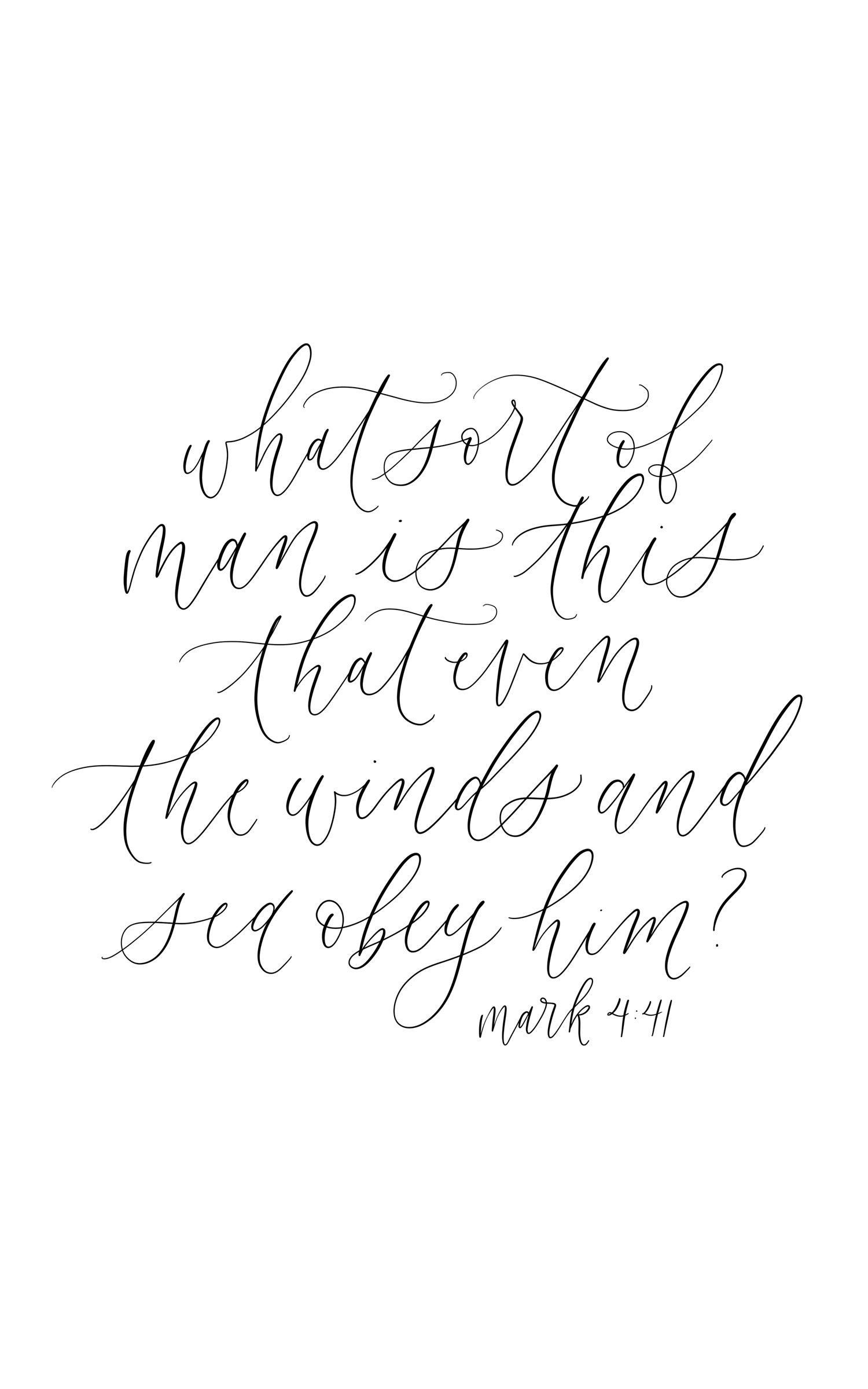 Mark 441 Calligraphy Quote Handlettering Bible Verse