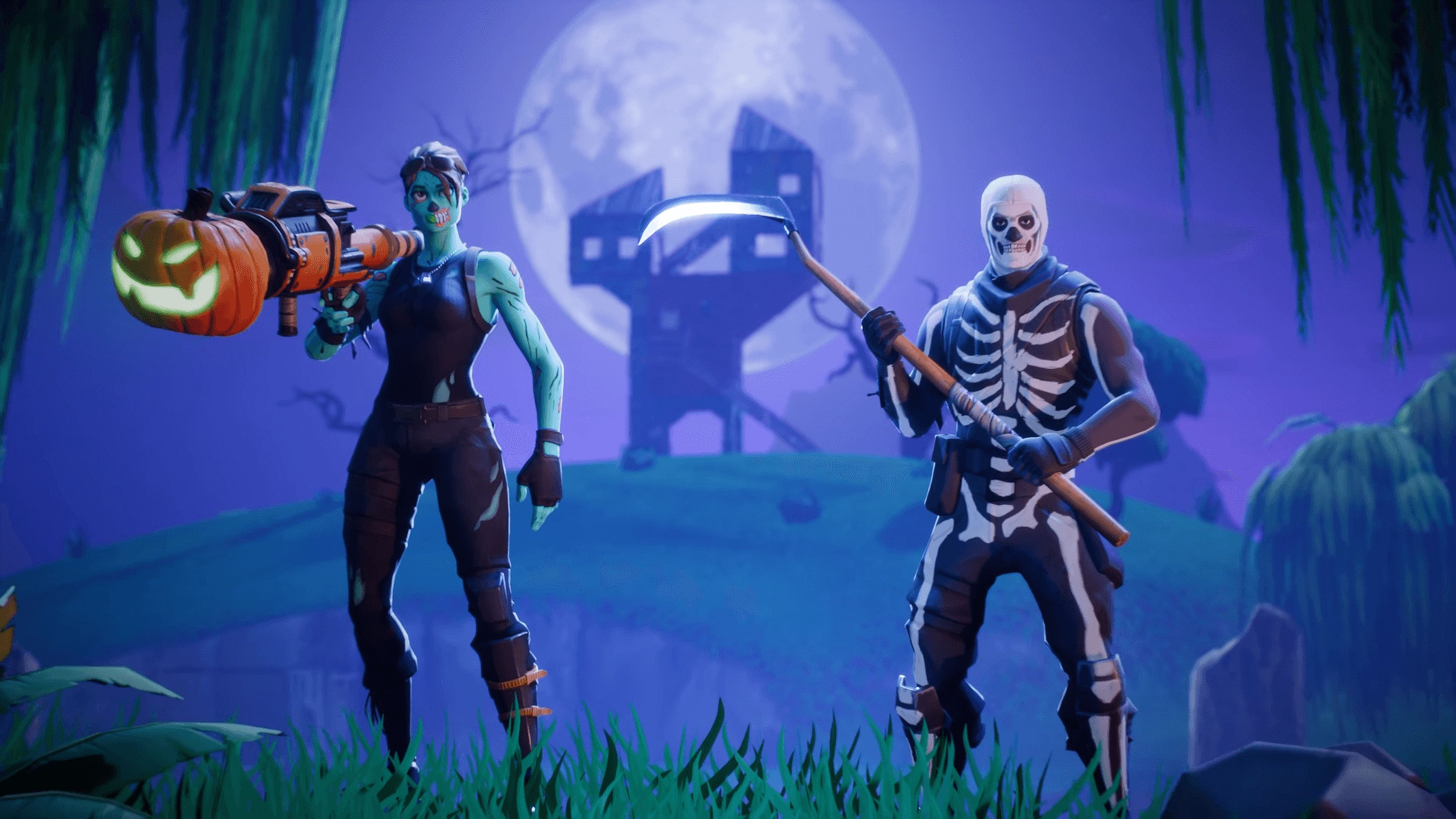 Fortnite Battle Royale Ghoul Trooper And Skull Trooper 4k 10359