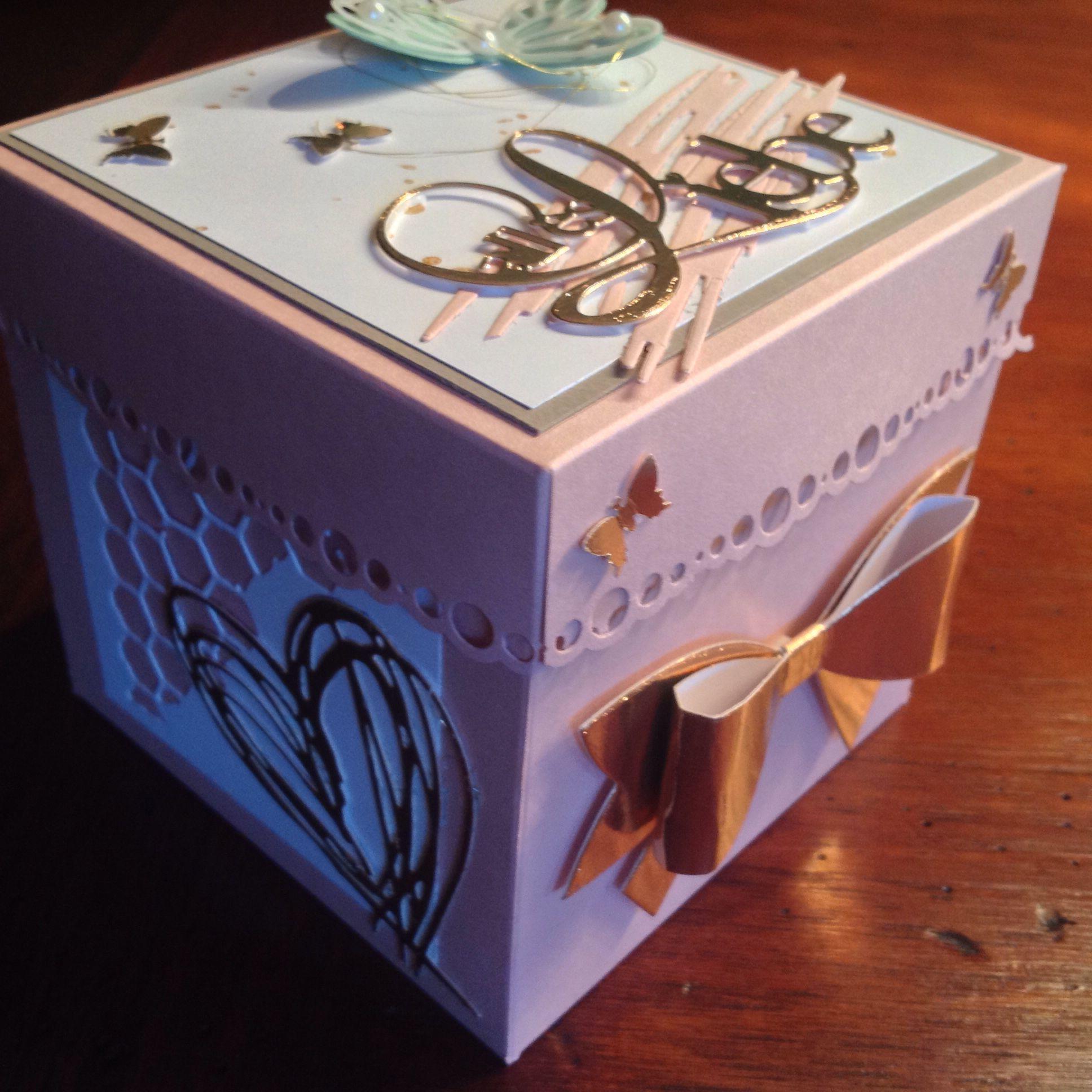 Exlosionsbox zur golden Hochzeit