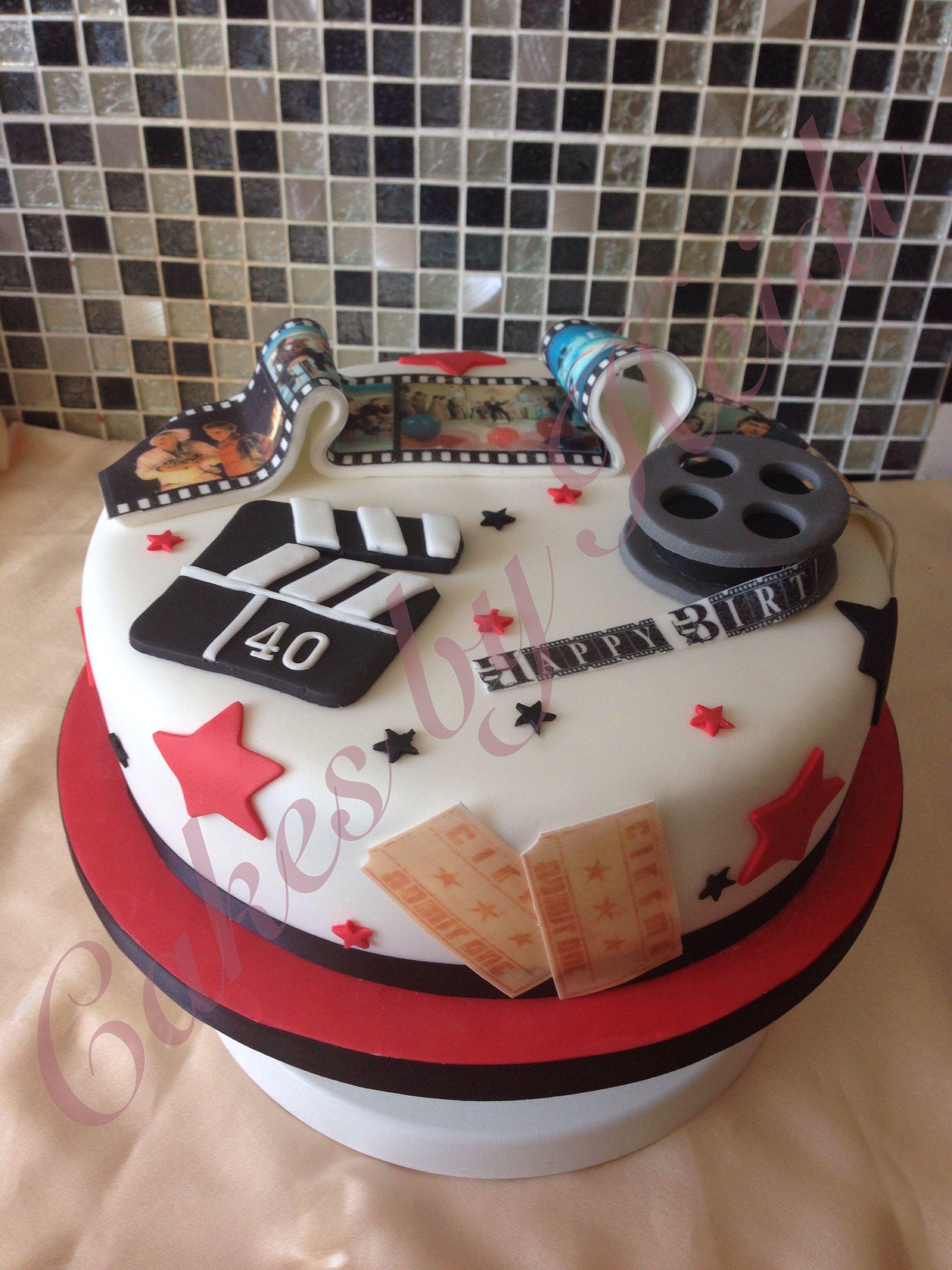 80 S Movie Themed Birthday Cake Party Themed Birthday Cakes