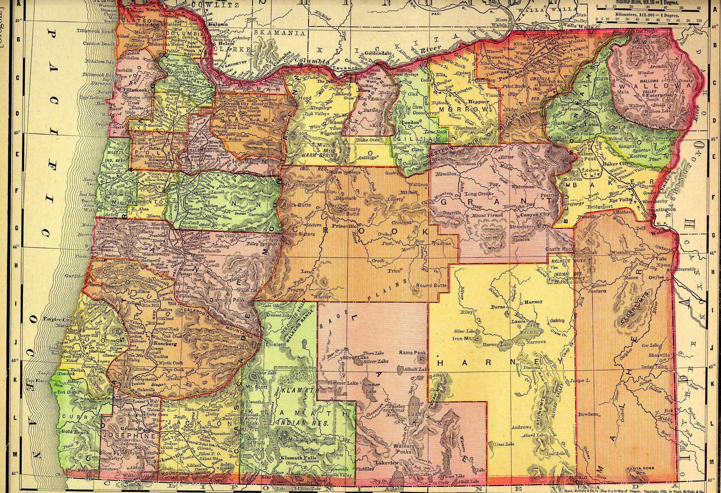 Explore Oregon Map In Color and more