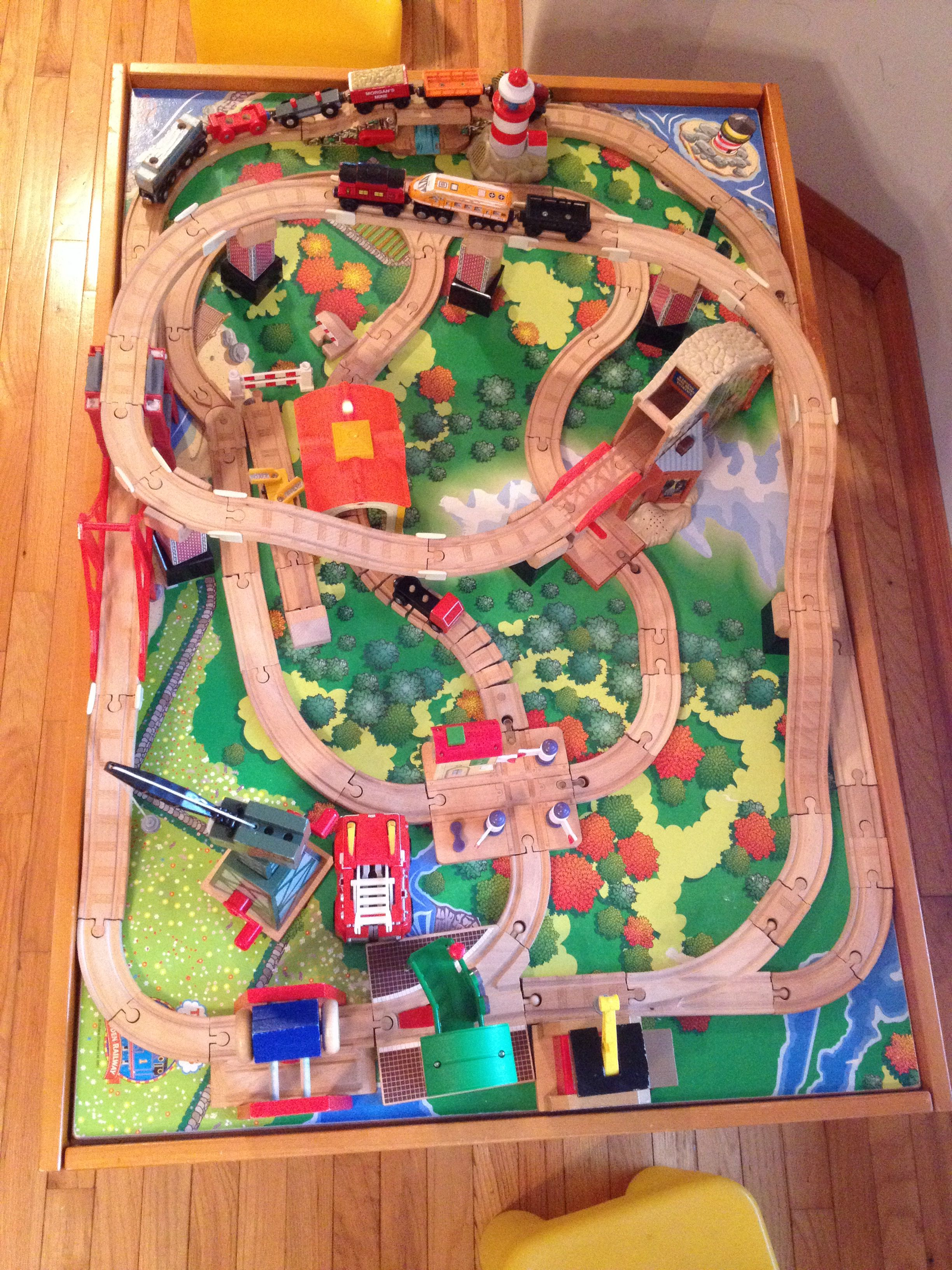 Thomas Wood Train Track Design On Thomas Table Toy