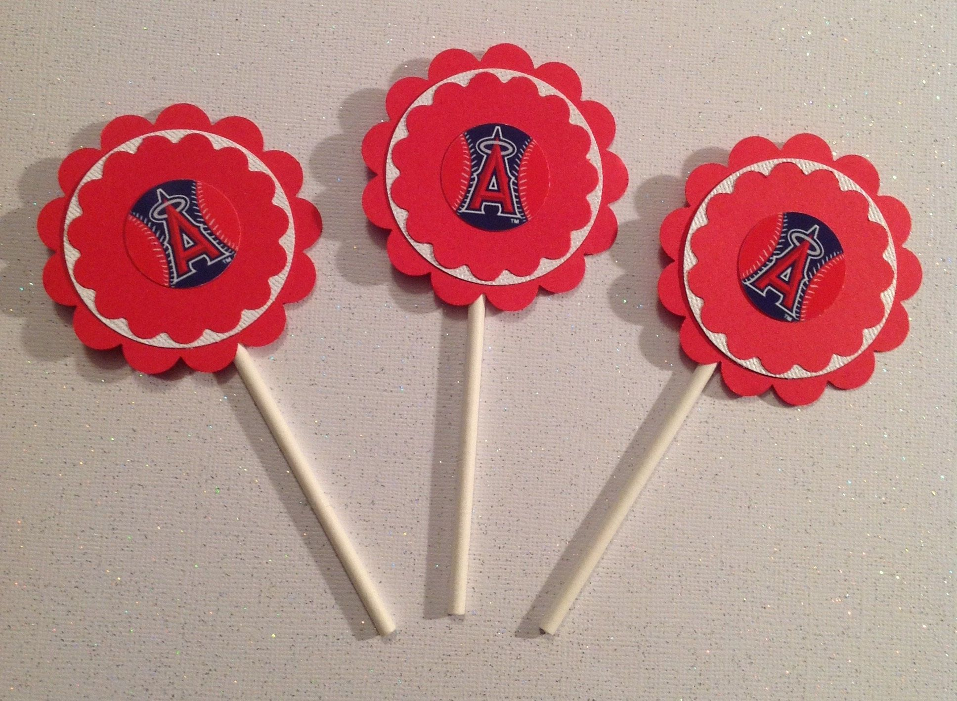 Los Angeles Angels Cupcake Toppers Angels Cupcake Toppers Angels