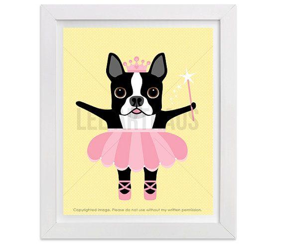 9D Boston Terrier Print - Boston Terrier Dog in White Bathtub Wall ...