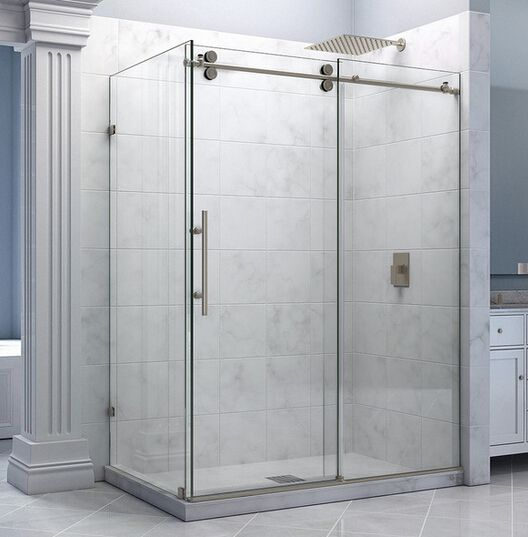 frameless sliding shower door hardware. 5FT/6.6FT Frameless Sliding Shower Door Hardware Room Stainless Steel Brushed T