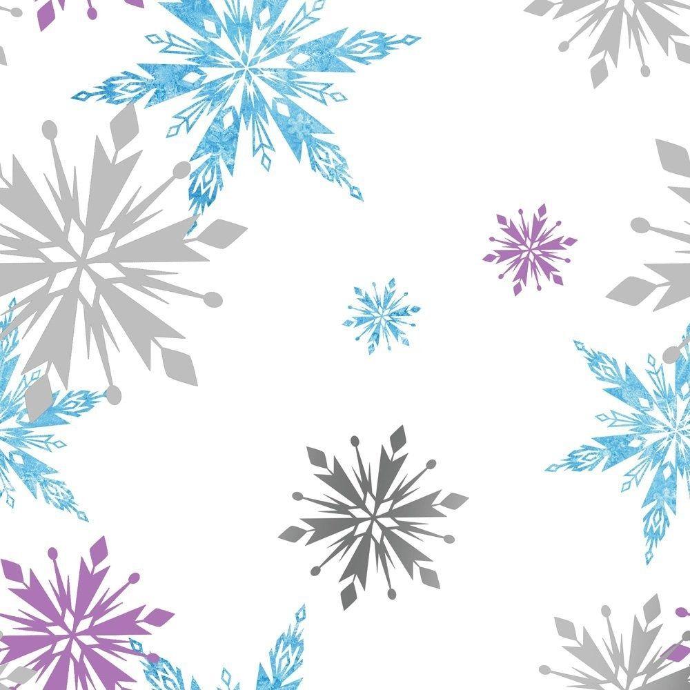 Disney frozen wall stencils - Frozen Snowflake Purple Blue Silver And White Wallpaper By Kids Home