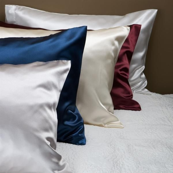 Silk Vs Satin Pillowcase Endearing 2Pc New Queenstandard Or King Silky Satin Pillowcase Solid 2018