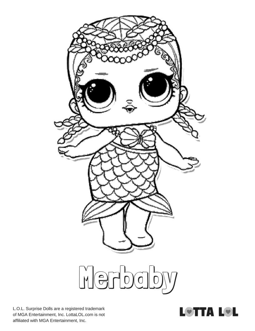 Merbaby Coloring Page Lotta LOL