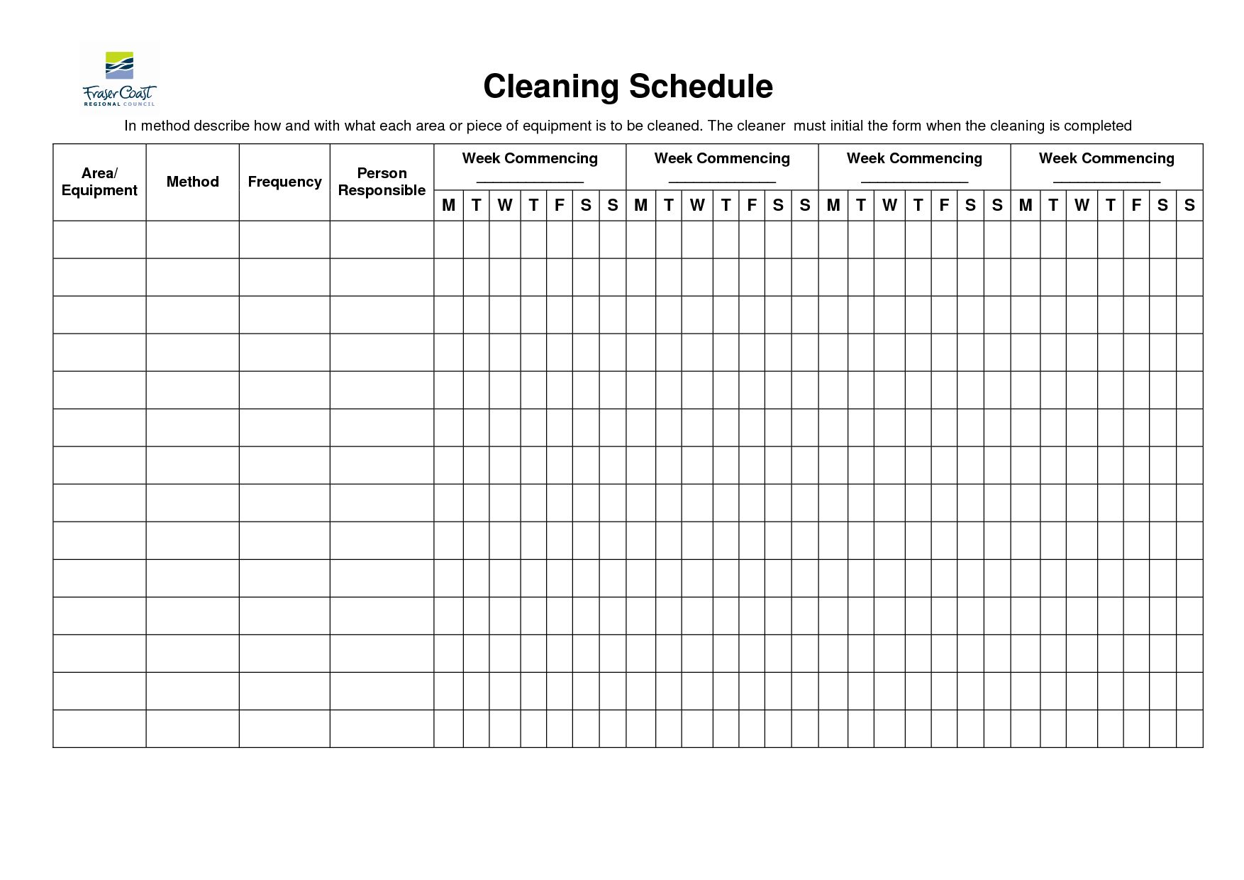 The Inspiring 007 Template Ideas Cleaning Schedule For Office 3157903 Free Cleaning Schedule Printable Cleaning Checklist Template Cleaning Schedule Templates Cleaning schedule template for restaurant