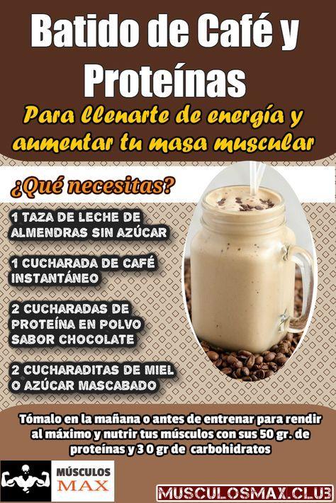 7 Ricos Batidos De Proteínas Para Aumentar Masa Muscular Pruébalos En 2020 Bebidas Saludables Batido De Café Comida Fitness Recetas