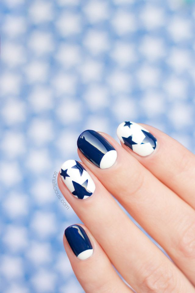 12 Freehand Nail Art Ideas You Can Actually Do Pinterest Nagel
