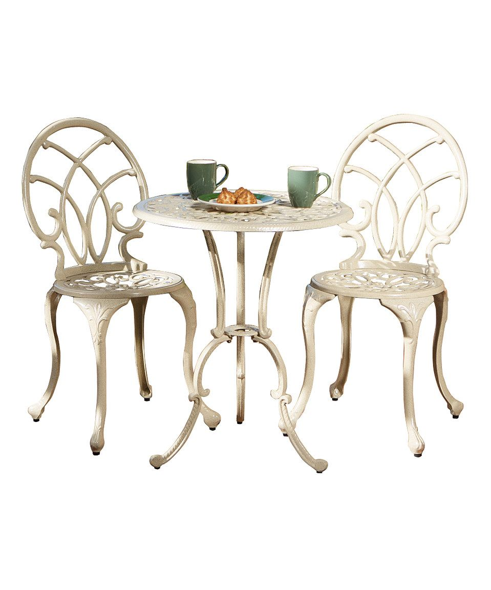 Love this Anacapa Off-White Three-Piece Bistro Set by Noble House ...