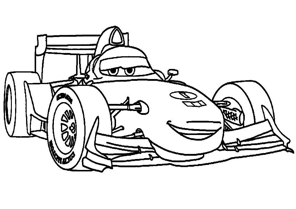 Dibujos Animados Para Colorear Cars 2 Para Ninos Pequenos En 2020 Libro De Colores Paginas Para Colorear Disney Carros Para Colorear