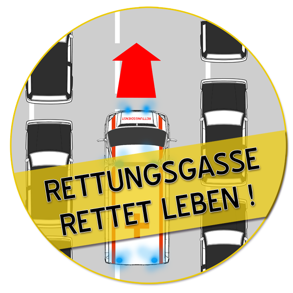 Rettungsgasse Rettet Leben Eine Gemeinsame Kampagne Von Deutsche Feuerwehr Gewerkschaft Landesgruppe Hessen Und Wies Feuerwehr Brandschutz Rettungsgasse