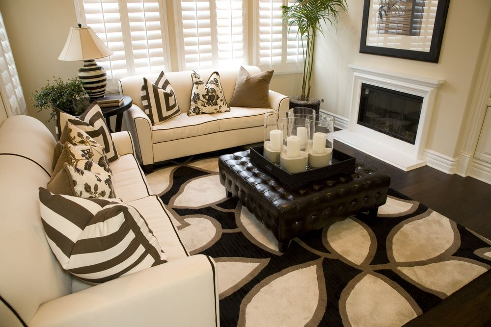 50 Beautiful Living Rooms With Ottoman Coffee Tables Part 43