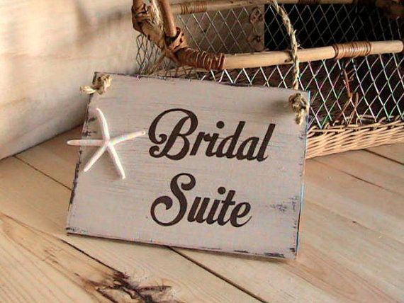 Beach Wedding Bridal Suite Wedding Sign by BeachandBungalow