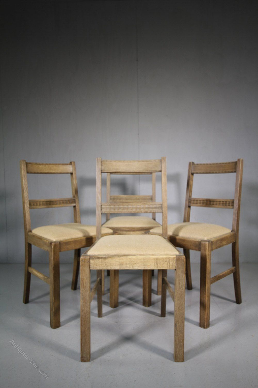 Dining Room Chairs Heals set of four 1920's oak dining chairsheals of london - antiques