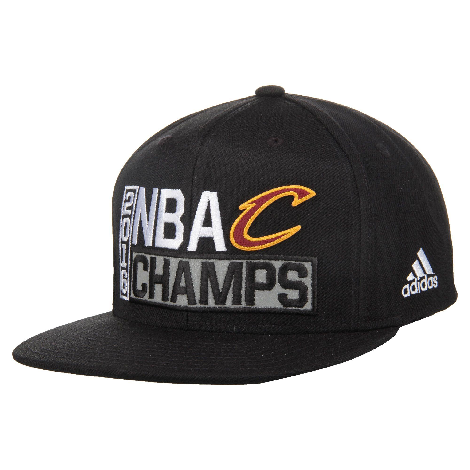 new style a3f9e 64fe3 Cleveland Cavaliers adidas 2016 NBA Finals Champions Locker Room Snapback  Adjustable Hat - Black