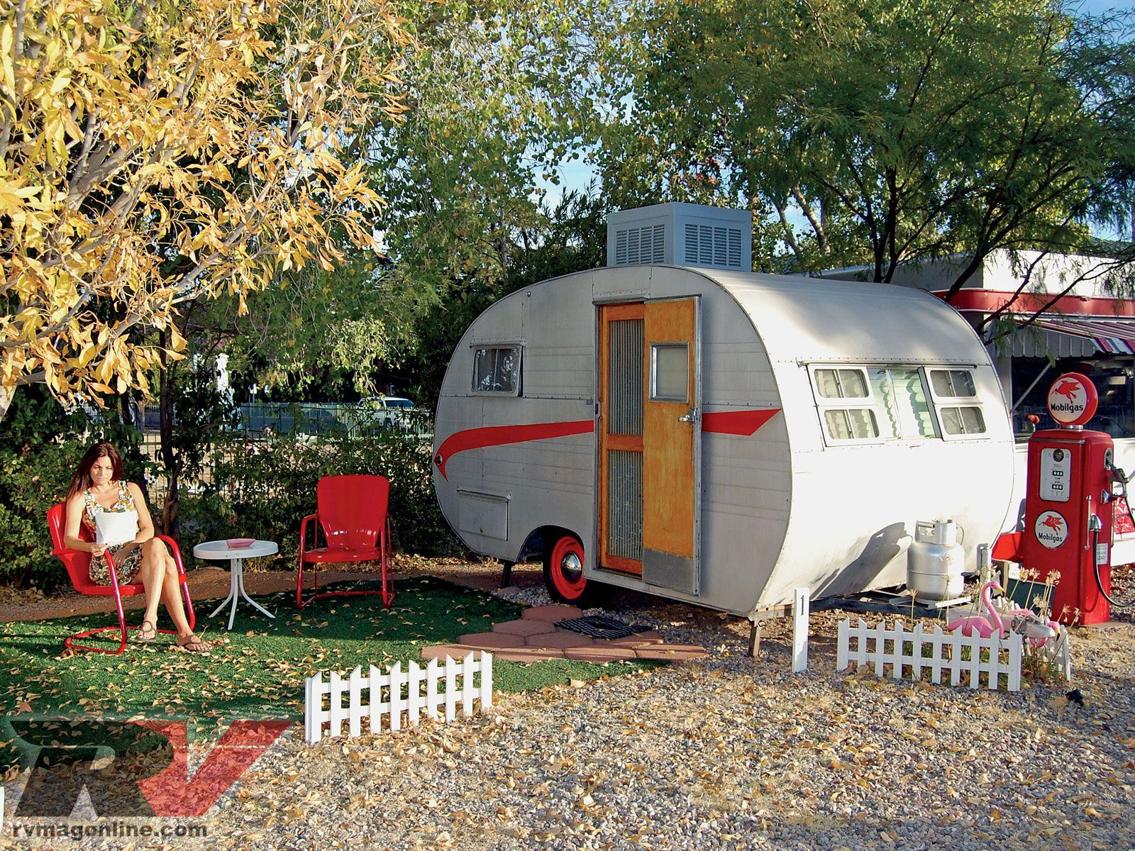 Shady Dell Vintage Trailer Resort - Bisbee, AZ - Kick back to the 50s with vintage Airstream trailers to stay overnight in, 50s restaurant, and more.