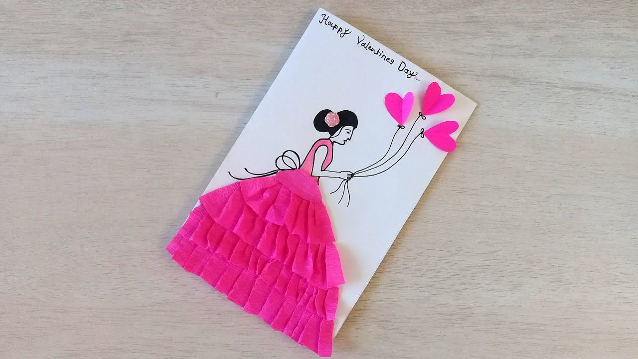 Beautiful Card For Valentines Day Creative Handmade Card Idea