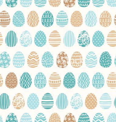 Easter eggs ornaments pattern vector - by stolenpencil on VectorStock®