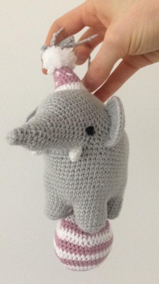 d8fd078d120dac Spieluhr Elefant gehäkelt Spieluhr Elefant