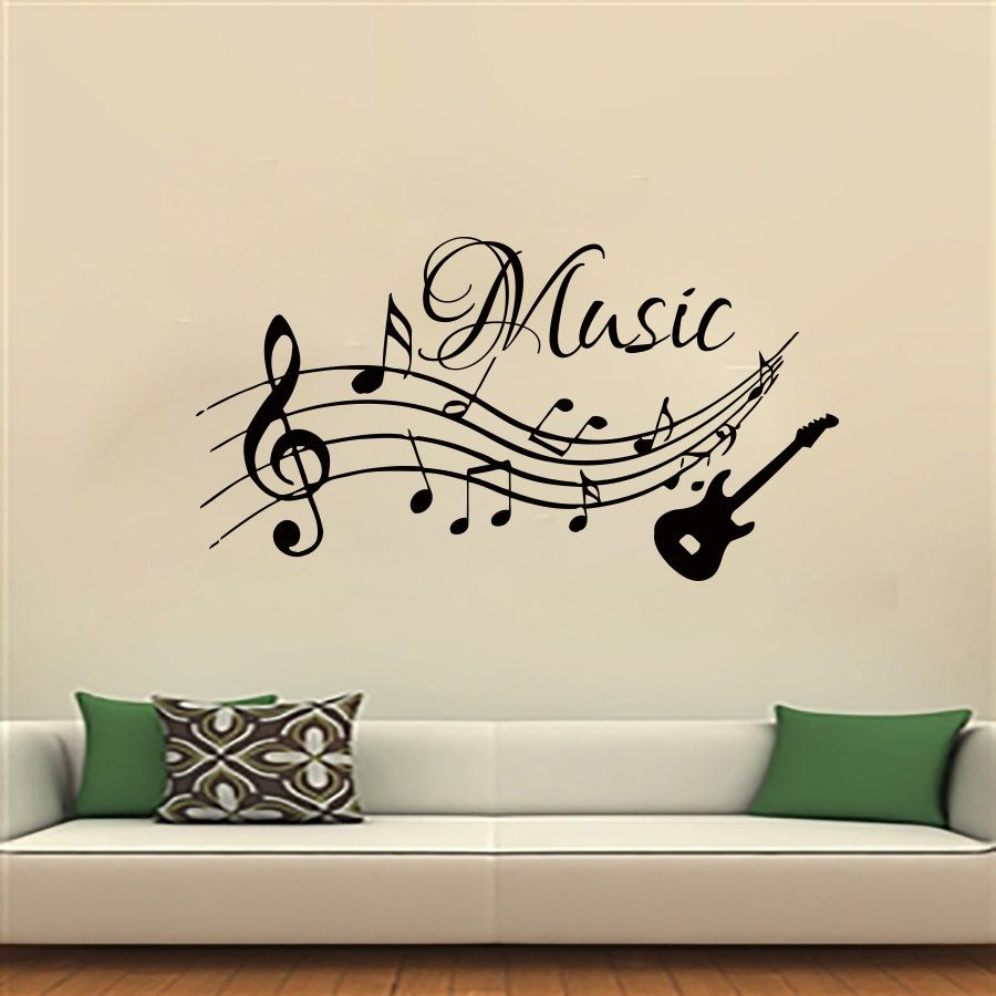 notas musicales m sica pegatinas de pared de pvc extra ble On stickers para decorar paredes