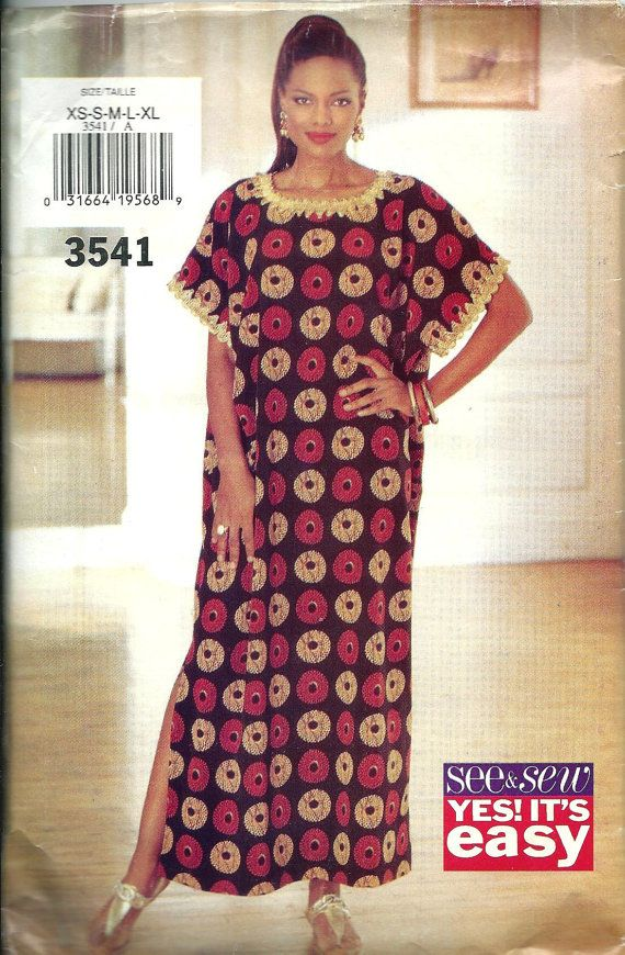 Butterick See & Sew 3541 Misses Caftan Pattern, XS-XL | My Etsy ...