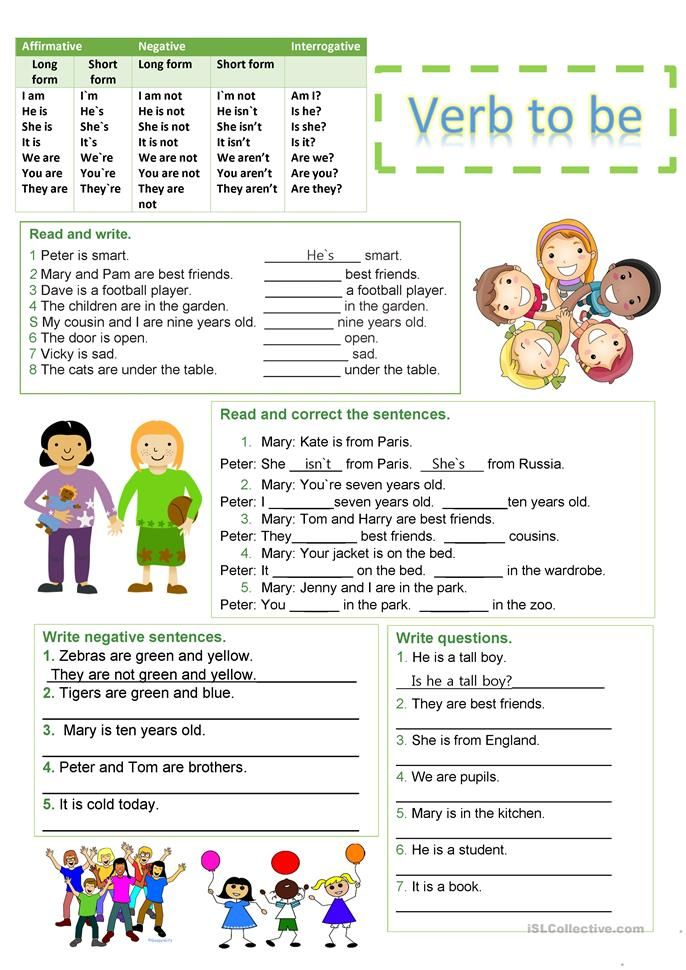 Verb To Be Worksheet - Free ESL Printable Worksheets Made By Teachers Verb  Worksheets, Grammar Worksheets, Action Verbs Worksheet
