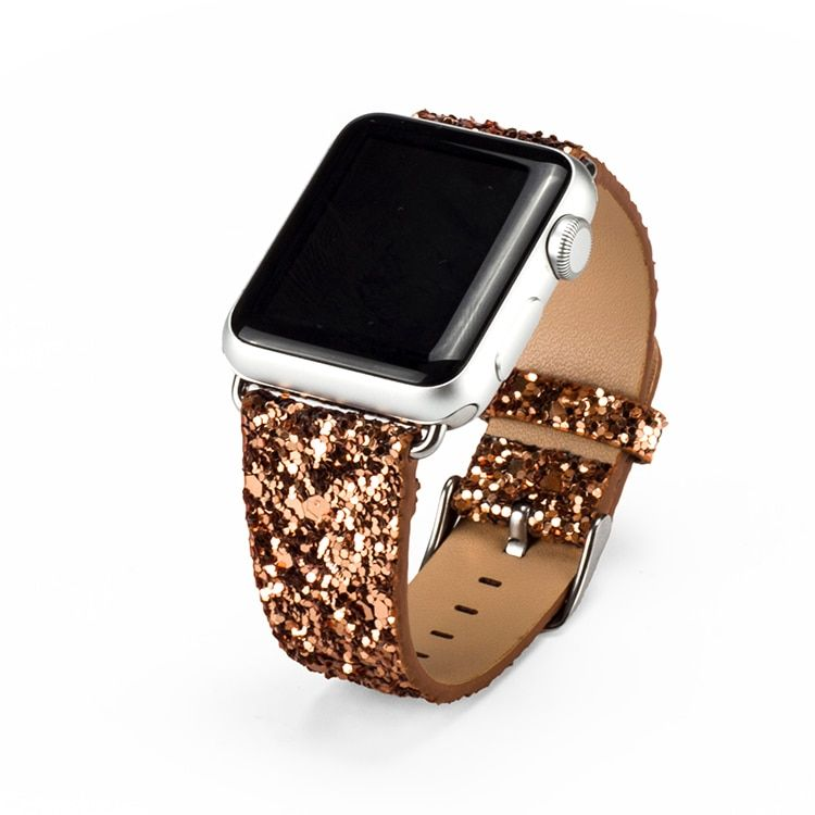 Luxury Apple Watch sparkle Glitter Bling Leather Band
