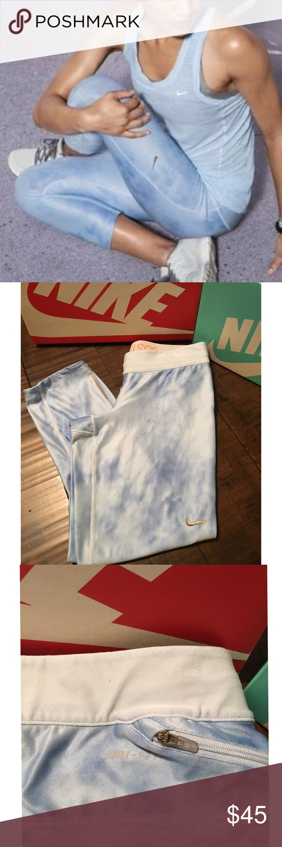 Nike Cloud Crop Leggings Sz S- good condition- no flaws Nike Pants