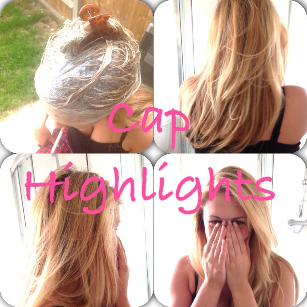 Some highlights i did at home using a cap on mid length hair then some highlights i did at home using a cap on mid length hair then a pmusecretfo Gallery