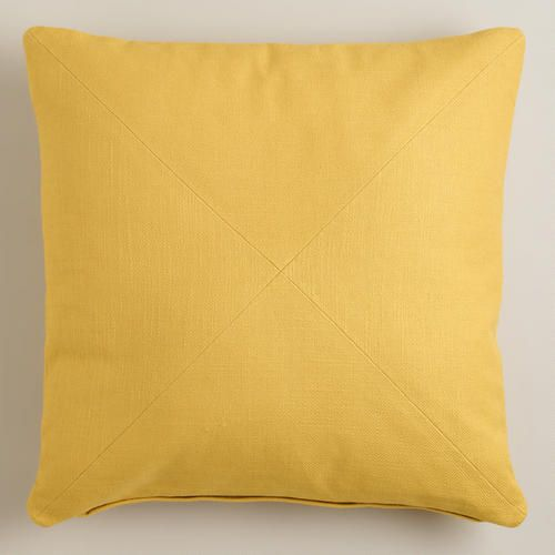 Sofa Pillows One of my favorite discoveries at WorldMarket Yellow Herringbone Cotton Throw Pillow