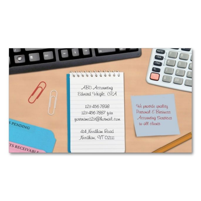Accounting office work business card office works business accounting office work business card reheart Images