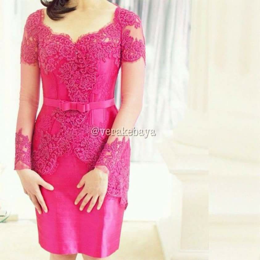 Pink Fanta Kebaya Di 2019 Kebaya Gaun Formal Dan Gaun Kebaya