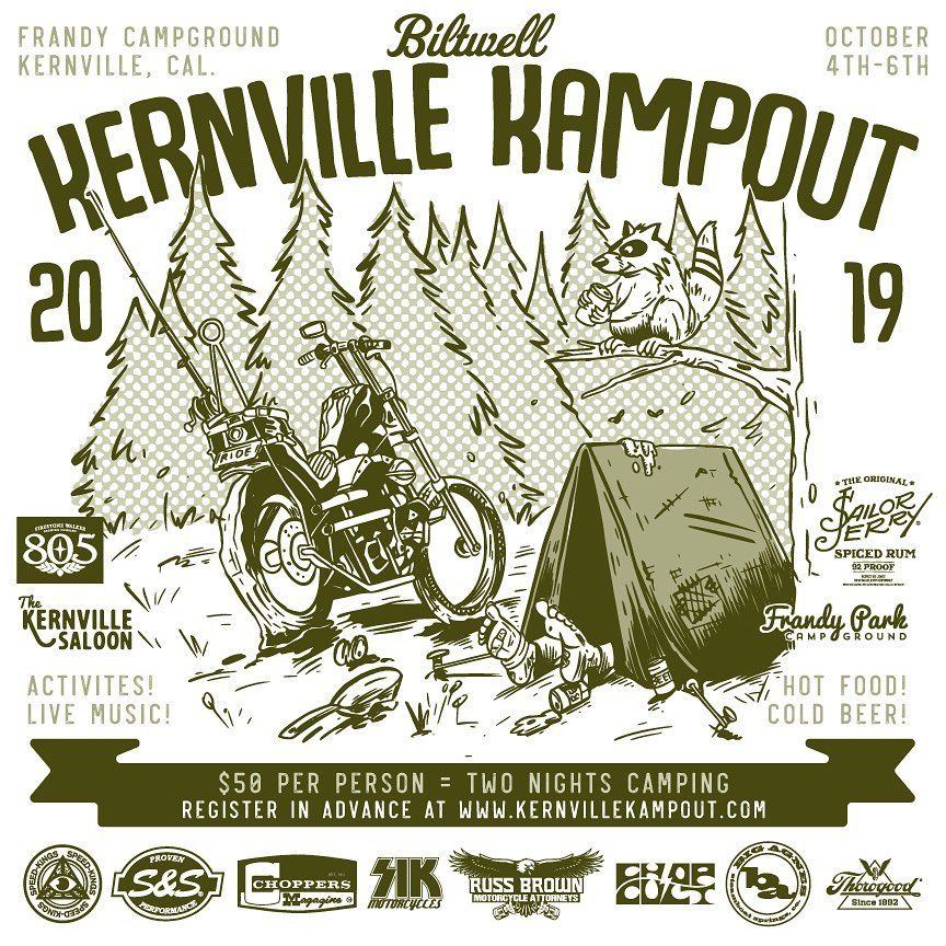 Kernville Kampout Tickets Are Now On Sale Same Price As Last Year They Will Sell Out So Don T Snooze Kernville Motorcycle Events Custom Motorcycles Chopper