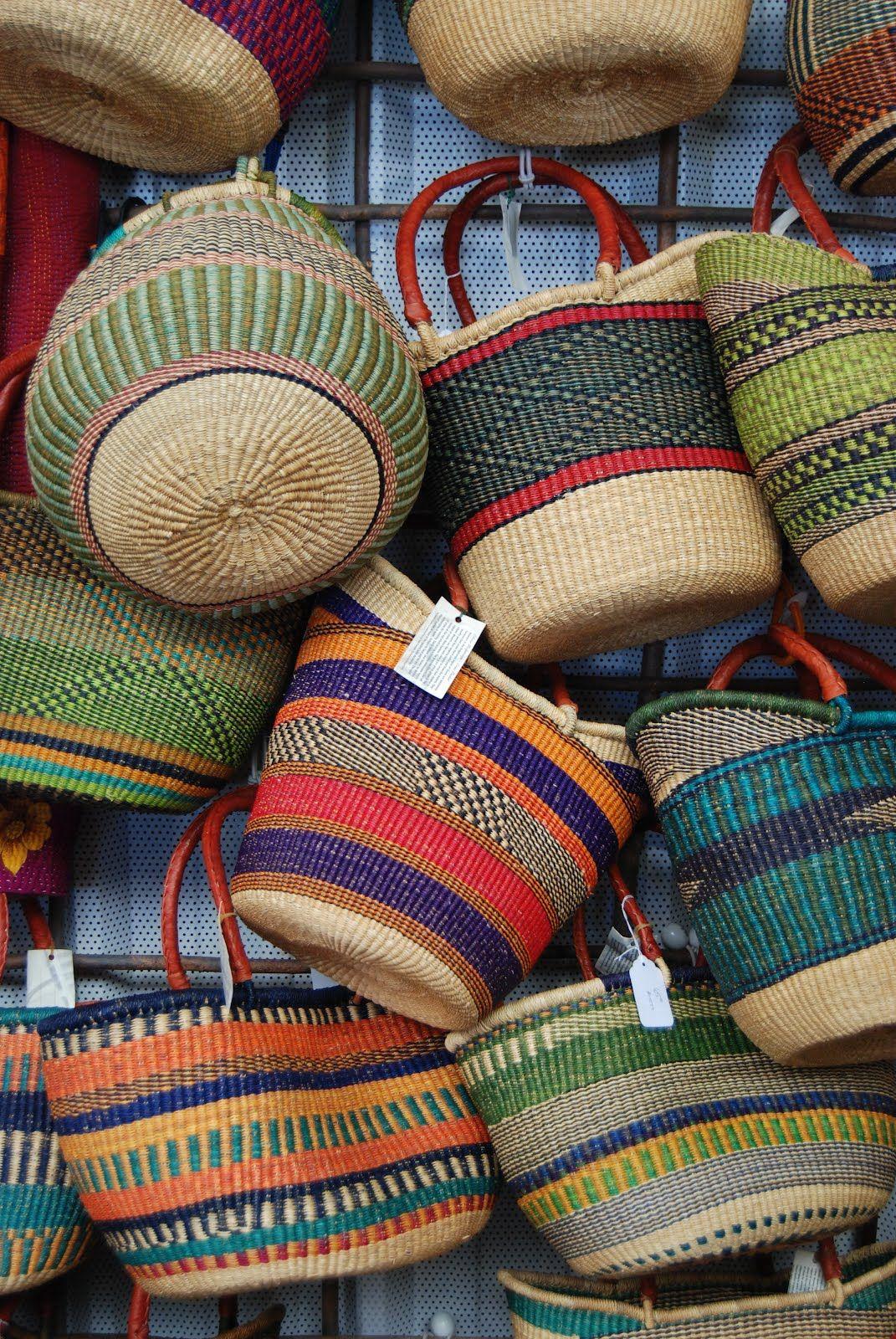 Market Basket Market Baskets Basket Weaving Colorful Baskets